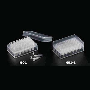 Prepacked 2ml dual purpose 24 Round well Microtube Rack/Deep Well Plate